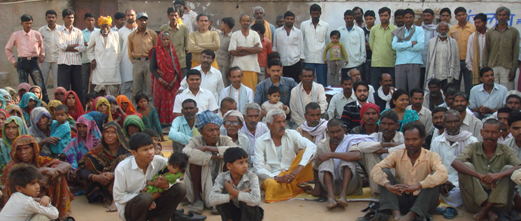 Gram Sabha meeting at Maharajpur Panchayat